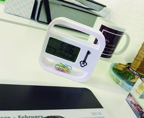 Relojes de escritorio personalizados, un paso más en el marketing útil para empresas